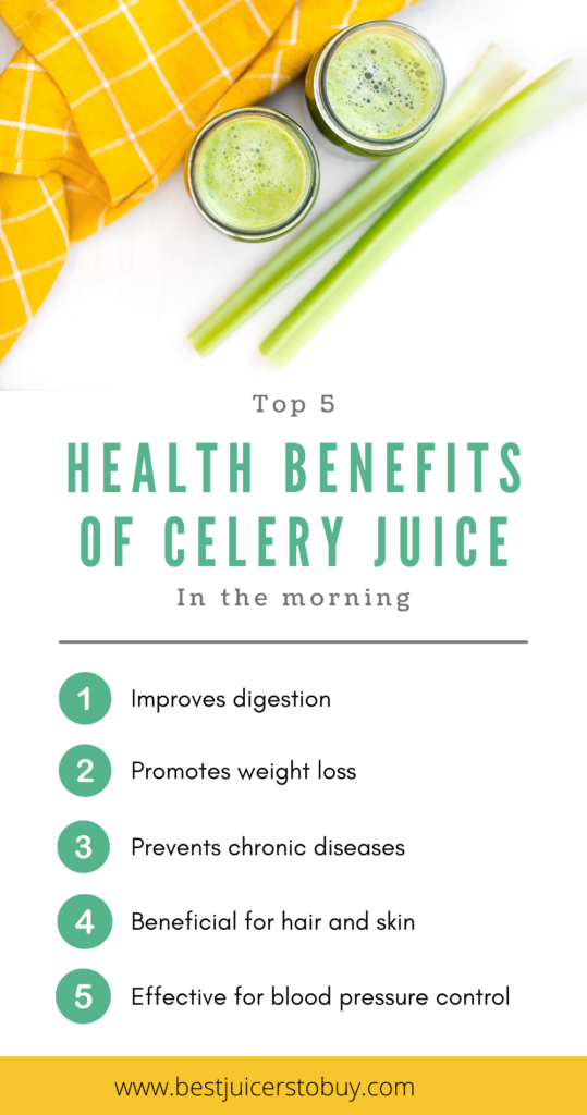 Top 5 Health Benefits of Celery Juice in The Morning