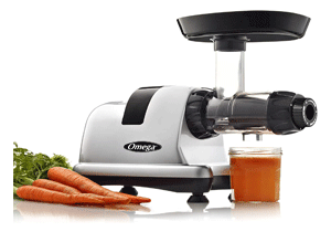 Omega J8006HDS Quiet Dual-Stage Slow Speed Masticating Juicer for nut milk